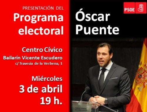 Óscar Puente presenta de su programa electoral municipal