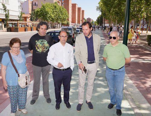 El alcalde y el concejal de Movilidad y Espacio Urbano visitan las obras ejecutadas en las Avenidas de Palencia y Santander y en la Victoria