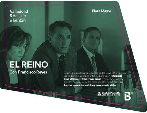 El nominado al Goya Francisco Reyes, presentará en la Plaza Mayor de Valladolid la película El reino dentro del Ciclo de Cine Viajero B the travel brand