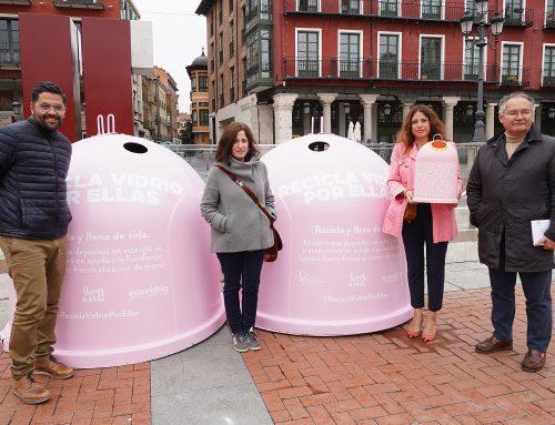 Ecovidrio y el Ayuntamiento de Valladolid presentan la campaña 'Recicla Vidrio por ellas' con motivo del Día Mundial del Cáncer de Mama