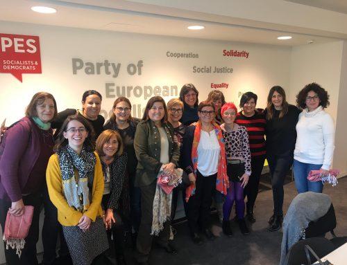La concejala de Educación, Infancia, Juventud e Igualdad, María Victoria Soto, visita el Parlamento Europeo junto con representantes de distintas entidades de mujeres de la Valladolid