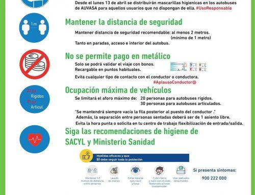 AUVASA garantiza la seguridad mediante recomendaciones e instrucciones para el uso del transporte urbano en Valladolid