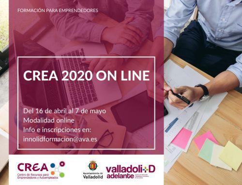 El programa de formación CREA para emprendedores de Valladolid lanza su versión online por primera vez