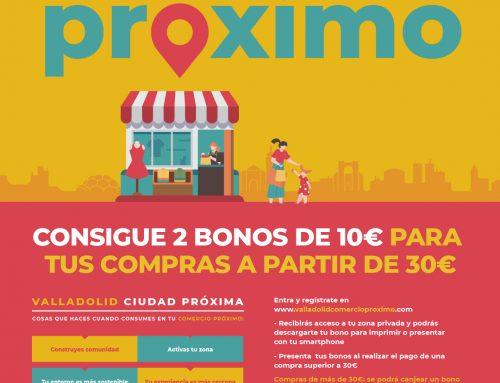 300.000 euros en bonos-descuento para reactivar el comercio minorista de Valladolid a través de valladolidcomercioproximo.com