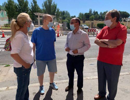 Finaliza la renovación de aceras de un tramo del Paseo Juan Carlos I en el barrio de Las Delicias