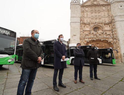 Continúa la renovación de flota: AUVASA presenta cuatro nuevos autobuses