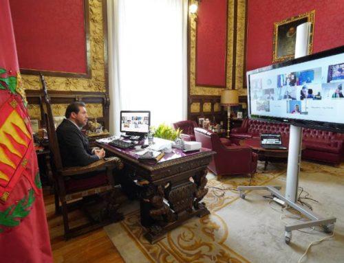 El alcalde de Valladolid reivindica junto a grandes ciudades europeas el protagonismo de los ayuntamientos en la gestión de los fondos de recuperación de la UE