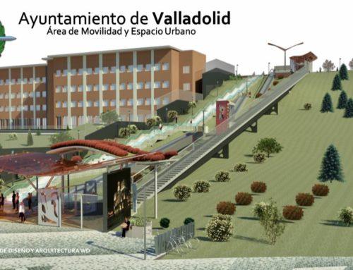 El Ayuntamiento cumple con Parquesol y presenta un nuevo ascensor inclinado y dos escaleras mecánicas para facilitar el acceso al barrio