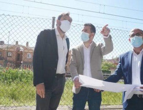 Tudanca destaca el compromiso de Puente con «una ciudad sostenible y con futuro» al visitar obras de la integración ferroviaria y el futuro parque agroalimentario