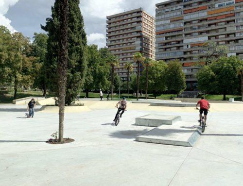 La Rosaleda ya tiene la pista de skate y la iluminación mejorada como reclamaban los vecinos