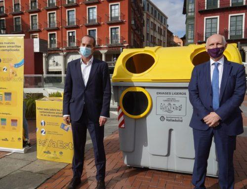 Valladolid sigue avanzando en la mejora del medio ambiente: comienza la implantación del contenedor amarillo en todos los barrios